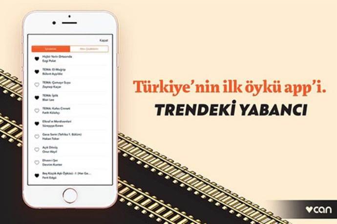 Türkiye'nin ilk öykü app'si: Trendeki Yabancı