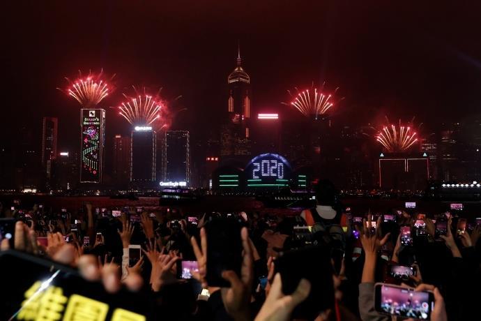 Dünya 2020 yılına böyle girdi! İşte dünya şehirlerinden 2020 yılı kutlamaları...