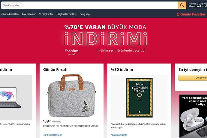 Amazon.com.tr'de %70'e varan büyük moda indirimi