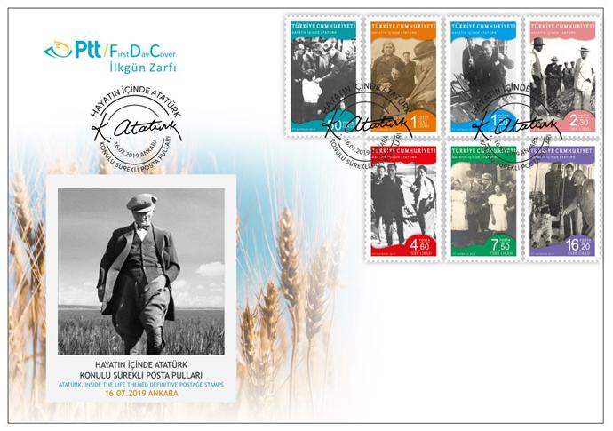 Hayatın İçinden Atatürk pulları satışa sunuldu