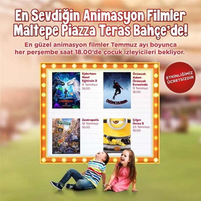 Maltepe Piazza'da perşembeleri ücretsiz animasyon film günü