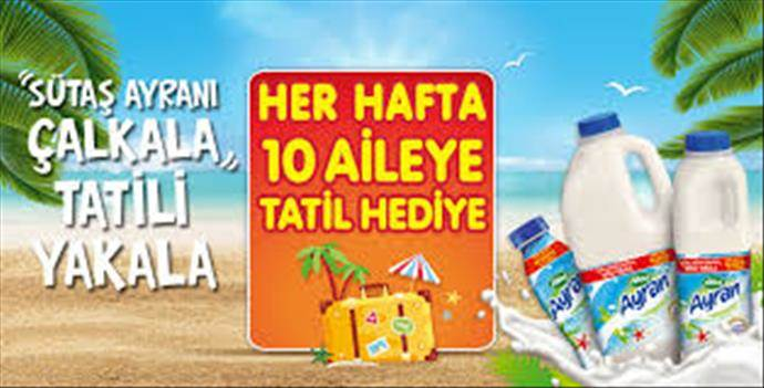 Sütaş Ayran'dan tatil çeki kampanyası