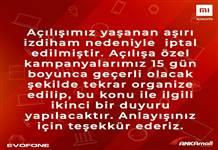 Xioami'nin Ankara mağazası İzdihamdan açılamadı